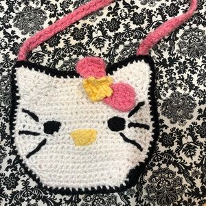 Other - Hand Knitted Mini Hello Kitty Purse